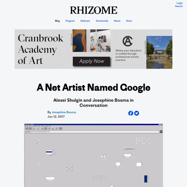 A Net Artist Named Google