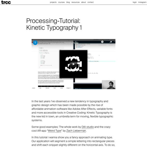 Processing-Tutorial: Kinetic Typography 1 * tim rodenbröker creative coding