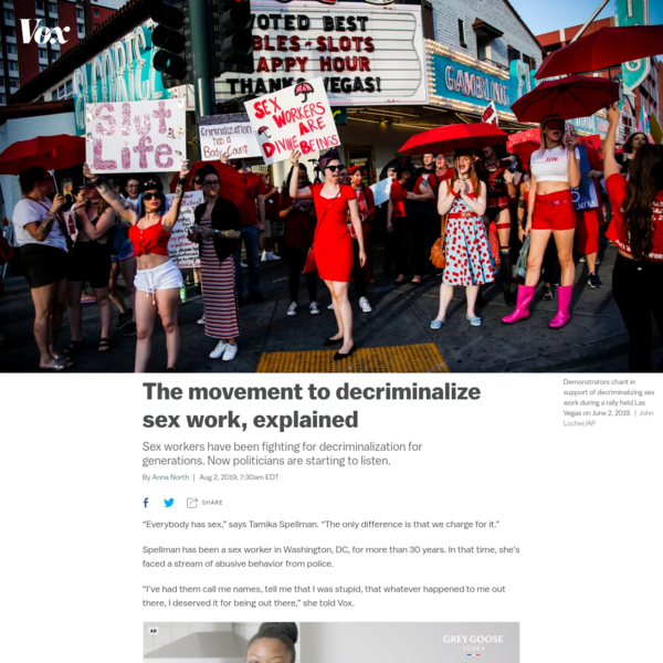 Sex workers' fight for decriminalization, explained