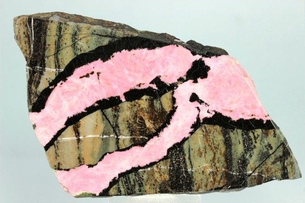 Rhodonite & Parsettensite, Urals Region, Russian Federation