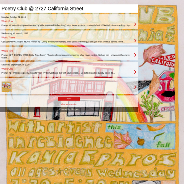 Poetry Club @ 2727 California Street