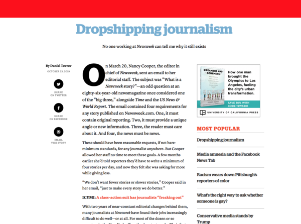 Dropshipping Journalism