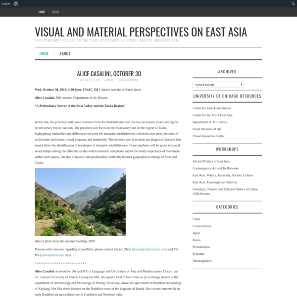 Visual and Material Perspectives on East Asia