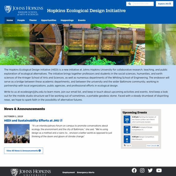 Home   Hopkins Ecological Design Initiative