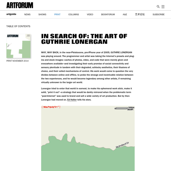 IN SEARCH OF: THE ART OF GUTHRIE LONERGAN