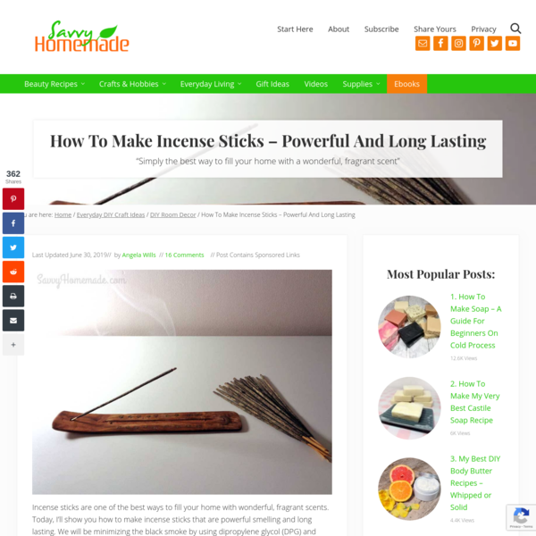 How To Make Incense Sticks Powerful And Long Lasting