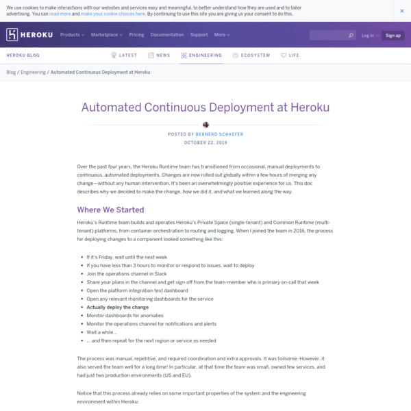 Automated Continuous Deployment at Heroku