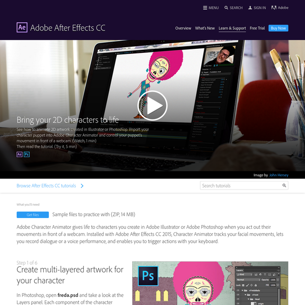How to use Adobe Character Animator