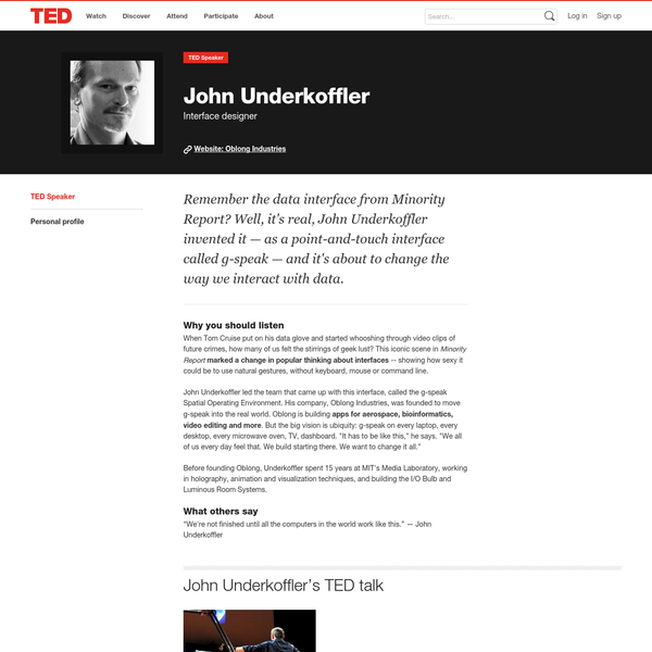 Last night at TED2013, the Motion Picture Association of America hosted a nighttime discussion on the topic of how film has shaped some of modern day's most cutting-edge technology. The prime example: John Underkoffler's user interface inspired by his work on Minority Report. We were joined by Industrial Light & Magic, the visual effects division of [...]