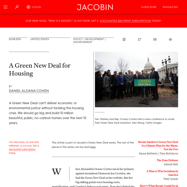 A Green New Deal for Housing