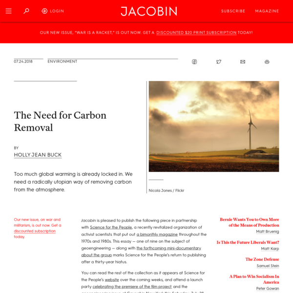 The Need for Carbon Removal