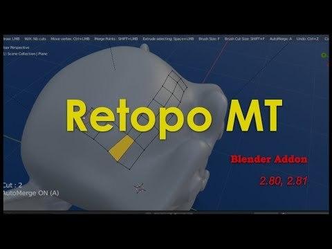 Retopo MT Addon Blender