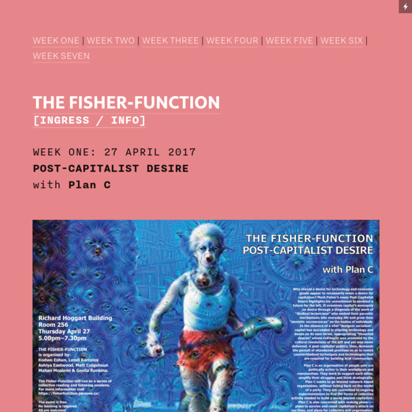 THE FISHER-FUNCTION