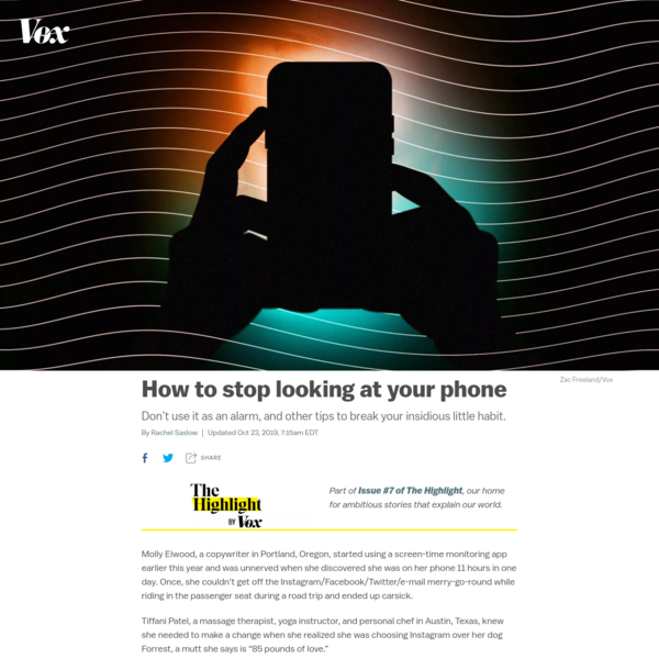How to stop looking at your phone - Vox