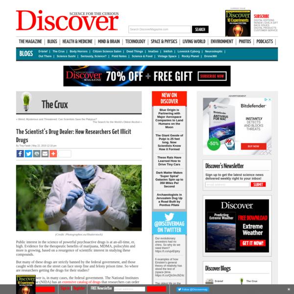 The Scientist's Drug Dealer: How Researchers Get Illicit Drugs - The Crux