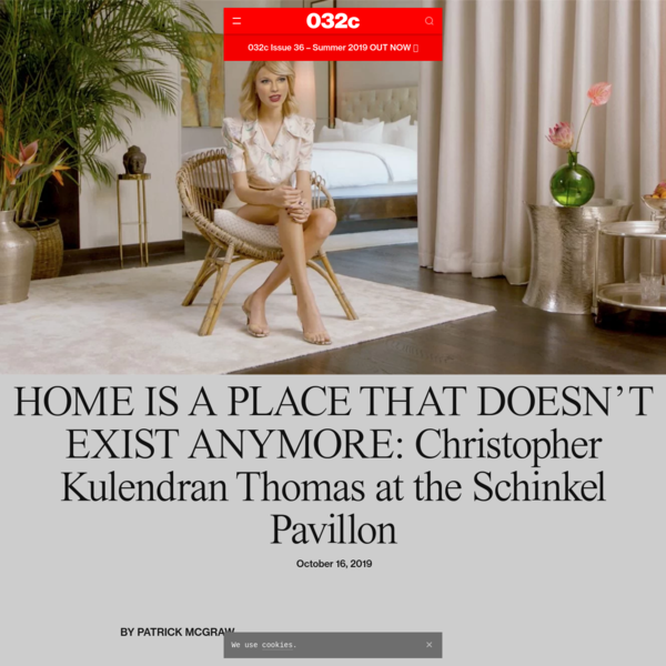 HOME IS A PLACE THAT DOESN'T EXIST ANYMORE: Christopher Kulendran Thomas at the Schinkel Pavillon - 032c