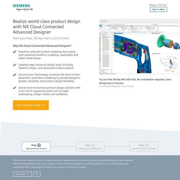 Siemens PLM NX Advanced Designer Trial, Free 30-Day Cloud Trial