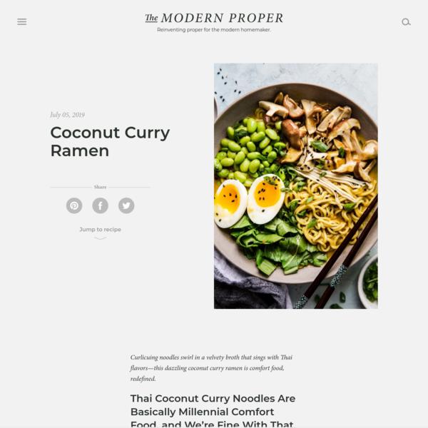Coconut Curry Ramen Recipe | The Modern Proper
