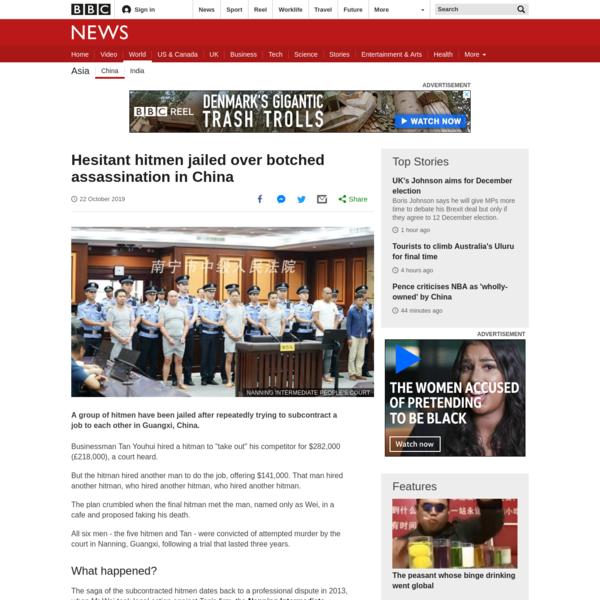 Hesitant hitmen jailed over botched job in China