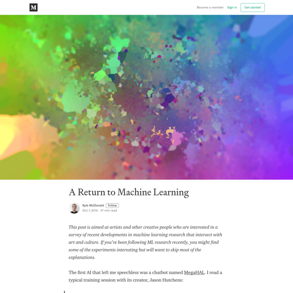 A Return to Machine Learning