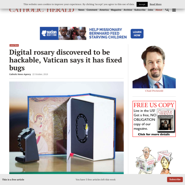 Digital rosary found to be hackable. Vatican says it has fixed problem | Catholic Herald