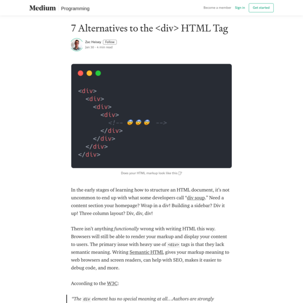 7 Alternatives to the HTML Tag