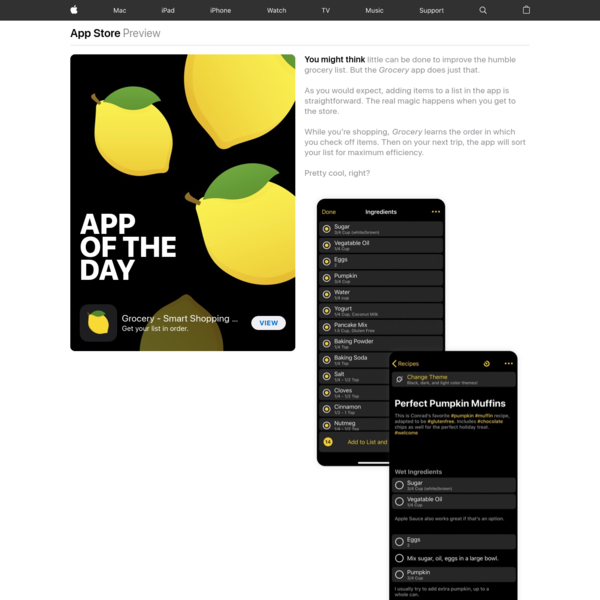 App of the Day: Grocery - Smart Shopping List