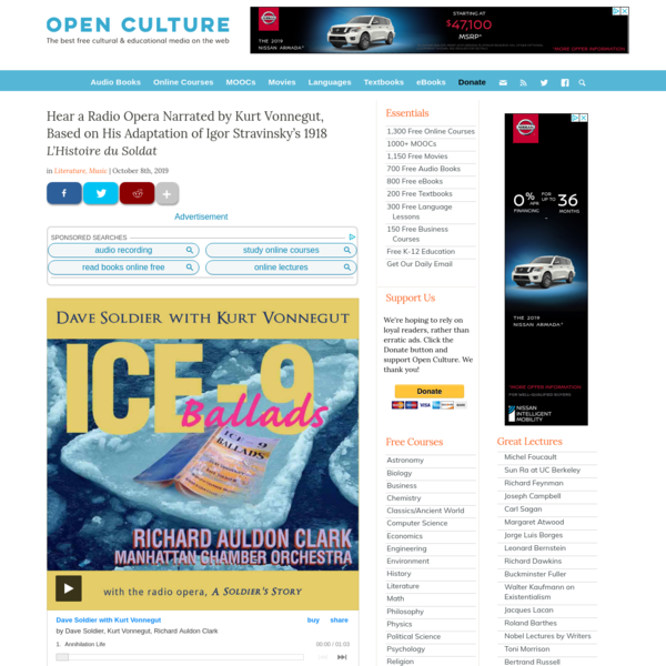 Open Culture - The Best Free Cultural and Educational Media on the Web.