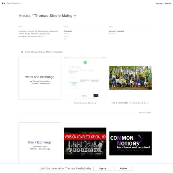 Are.na / Thomas Steele-Maley