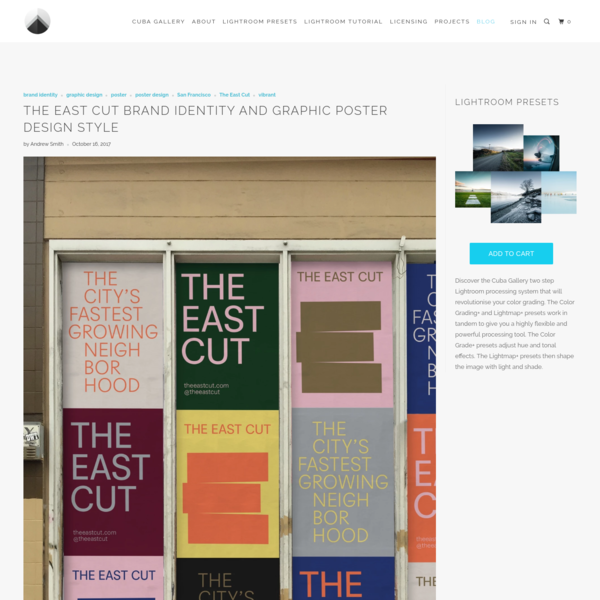 The East Cut brand identity and graphic poster design style