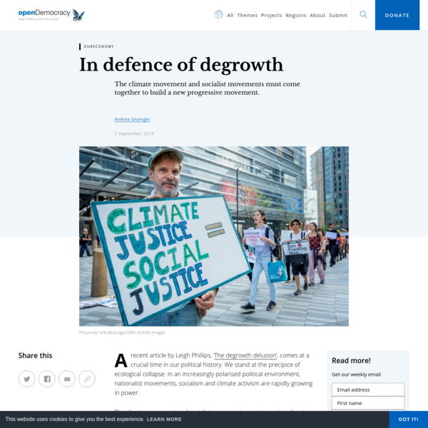 In defence of degrowth