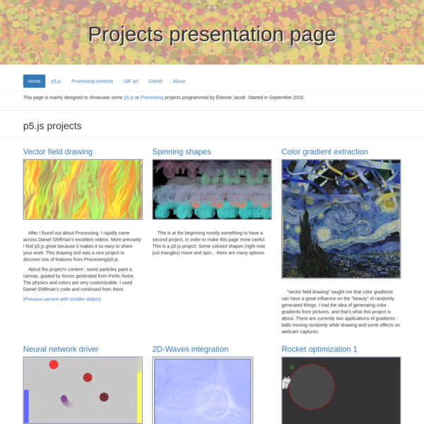 Projects presentation