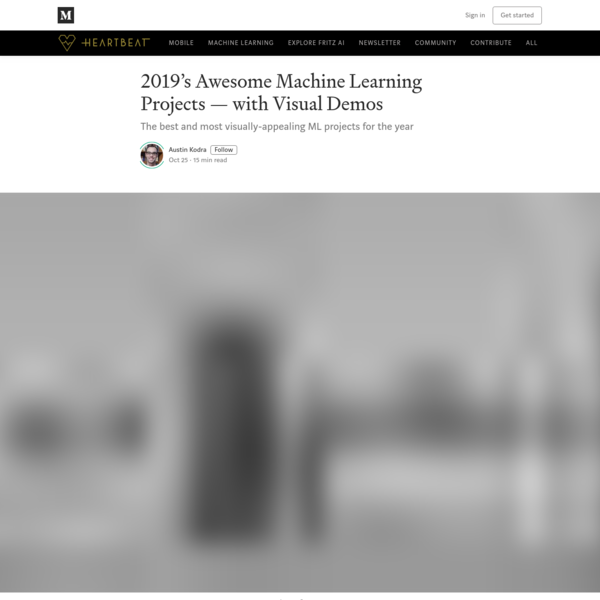 2019's Awesome Machine Learning Projects - with Visual Demos