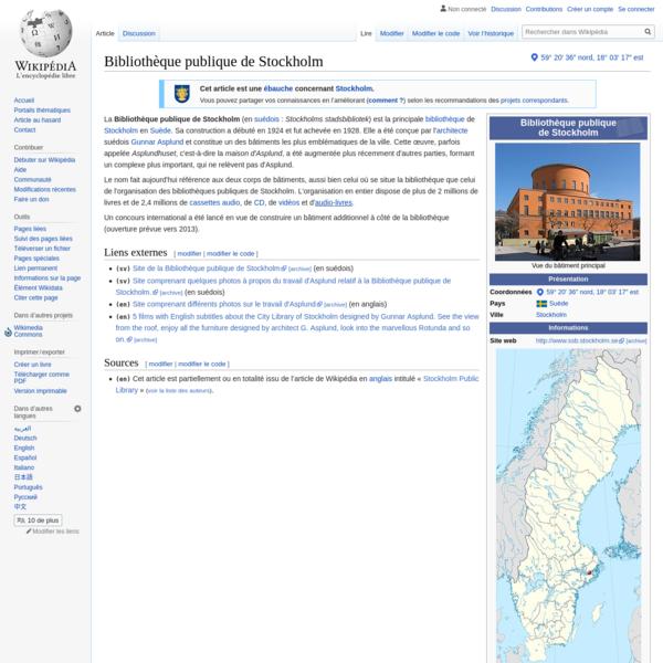 Bibliothèque publique de Stockholm