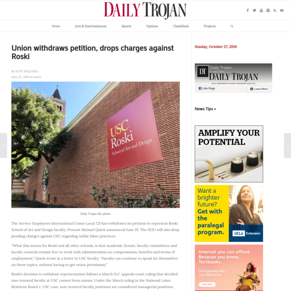 Union withdraws petition, drops charges against Roski | Daily Trojan