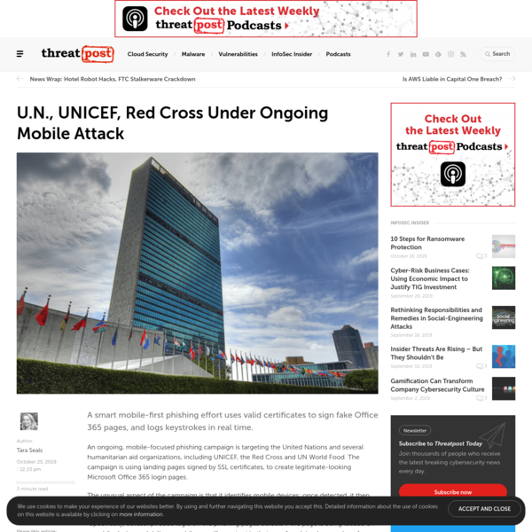U.N., UNICEF, Red Cross Under Ongoing Mobile Attack