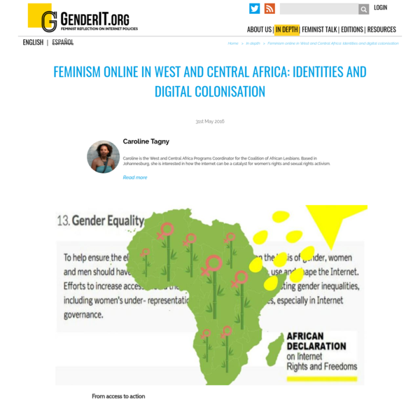 Feminism online in West and Central Africa: Identities and digital colonisation