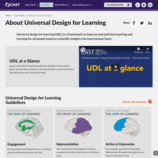 About Universal Design for Learning