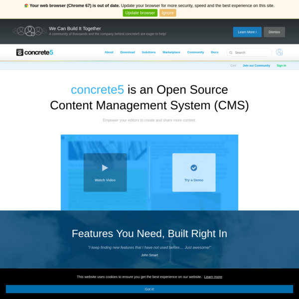 concrete5 is a free CMS Open Source Content Management System