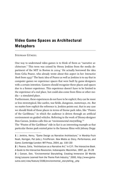 Guenzel, Stephan - Video Game Spaces as Architectural Metaphors