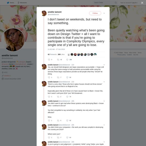 amélie lamont on Twitter