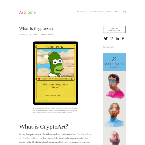 What Is CryptoArt? - Artnome