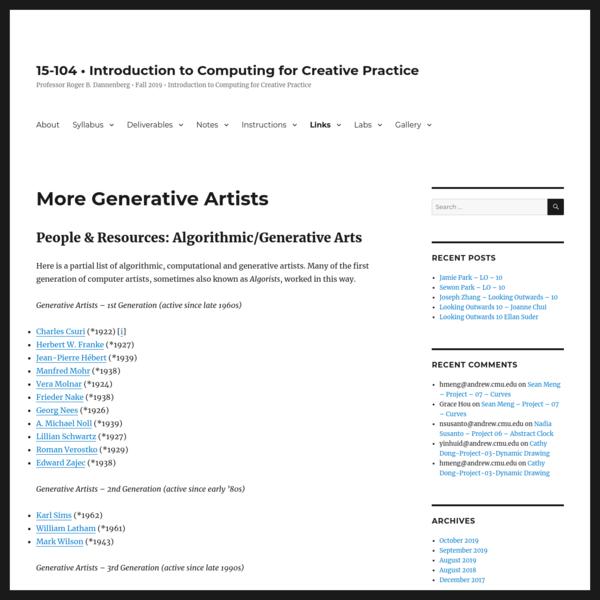 More Generative Artists