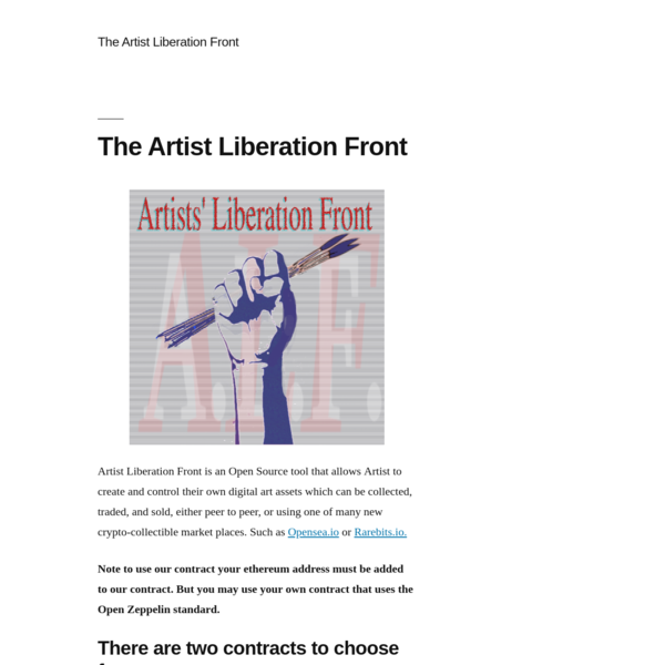 The Artist Liberation Front