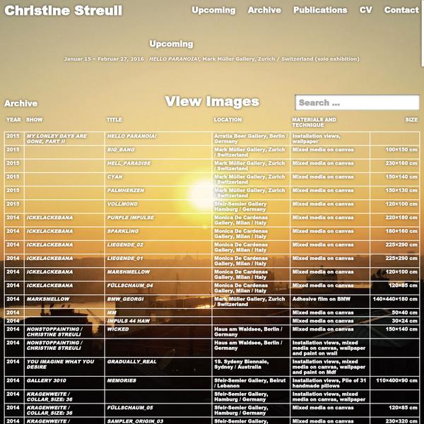 Christine Streuli - Christine Streuli is an artist based in Berlin.