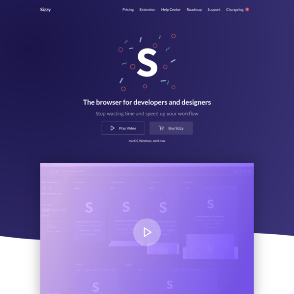 Sizzy - The Responsive Design Browser