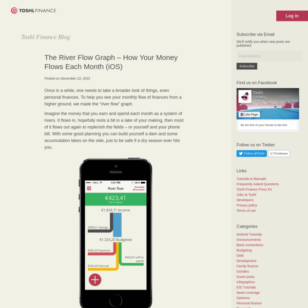 The River Flow Graph - How Your Money Flows Each Month (iOS)