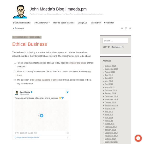 Ethical Business | John Maeda's Blog | maeda.pm