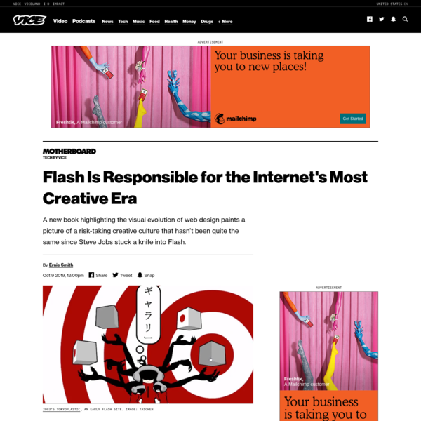Flash Is Responsible for the Internet's Most Creative Era