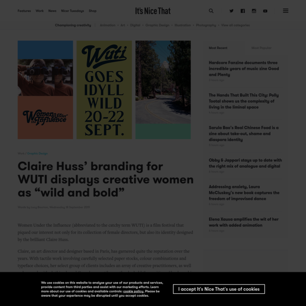 """Claire Huss' branding for WUTI displays creative women as """"wild and bold"""""""